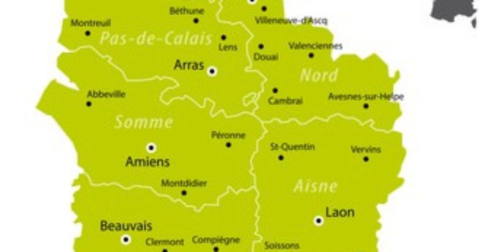 Carte Région Hauts-de-France (Nord Pas-de-Calais Picardie)
