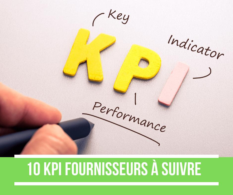 les indicateurs de performance fournisseur